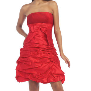 Dresses & Skirts - BOGO Red short cute cocktail grad homecoming dress